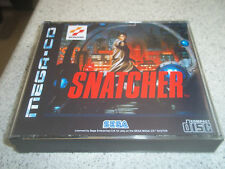 SNATCHER.SEGA MEGA CD PAL .REPLACEMENT CASE+INLAYS ONLY.NO GAME