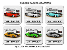VALIANT  VH  PACER   265  HEMI      SET OF  6   RUBBER DRINK  COASTERS