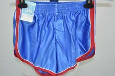 SHORT DE COURSE GAY NYLON VINTAGE RETRO XS BLEU NEUF