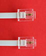 "RJ11 to RJ11 ""15M"" ADSL 2 Wire Broadband Cable White for Router to ADSL Filter"