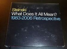 "STEINSKI ""What Does It All Mean? 1983-2006 Retrospective"" 2-CD hip-hop VERY GOOD"