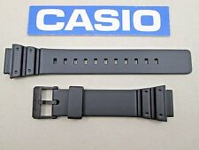 Genuine Casio MRW200H MRW-200H black resin watch band strap 18mm lug size