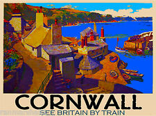 Cornwall Great Britain British England English Travel Advertisement Art Poster