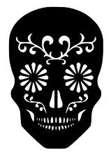 High Detail Sugar Skull Airbrush Stencil - Free UK Postage