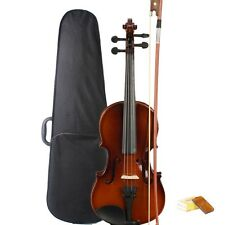 New School Student Acoustic Violin 1/4 Natural + Case+ Bow + Rosin 6-8 years