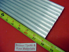 "10 Pieces 1/2"" ALUMINUM 6061 ROUND ROD 18"" long .500"" Solid T651 Lathe Bar Stock"