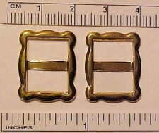 1:2, 1:3, 1:4 Play Scale FANCY RECTANGULAR DOLL BUCKLES for Shoes / Belts GOLD