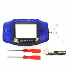 GBA Nintendo Game Boy Advance Replacement Housing Shell Screen Lens Blue Pikachu