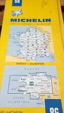 carte routière régionale Michelin 58 BREST - QUIMPER, Bretagne  1/200 000 - 1985
