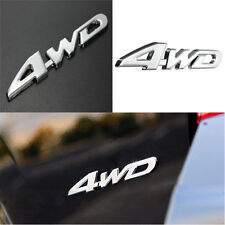 Car Metal Chrome 3D 4WD Displacement Emblem Badge All Wheel Drive Auto Sticker