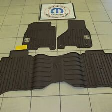 Dodge Ram Canyon Brown crew cab front & rear slush mats MOPAR RAM