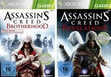 Xbox 360 figuras assassins creed Revelations + Brotherhood como nuevo