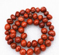Beautiful 8x10mm Red Picasso Irregular Shapes Gemstone loose beads 15 ""