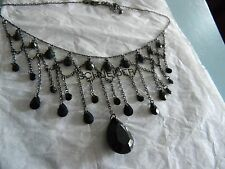 Premier Designs BLACK BEAUTY bead bib necklace RV $32 FREE ship w/bin