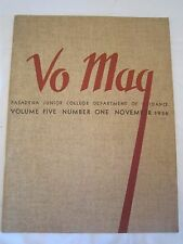 1936 PASADENA JUNIOR COLLEGE 'VO' Magazine Vol. 5 No. 1 *
