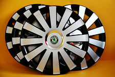 "14"" SKODA Fabia ,Etc... ALLOY LOOK CAR WHEEL TRIMS ,COVERS ,HUB CAPS ,Quantity 4"
