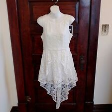 Minkmink Sleeveless Lace Lined Mini Dress With Short Train XSmall Adorable Nwt
