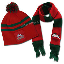South Sydney Rabbitohs Baby Beanie Hat and Scarf Set