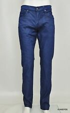 Nwt 7 for All Mankind The Straight Modern Coated Jeans Pants ~Azure Blue *34