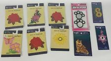 Mixed Lot of 10 Iron On Appliques Cat Flowers Butterfly Paw Prints NEW