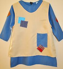 New Kids Annie  Orphan costume  Size 6-8 Years Old  Blue / Beige Fabric Small