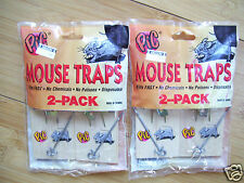 Pic Wood Wooden Mouse Spring Traps Two 2 Packs 4 total New sealed