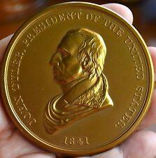 """1841 PRESIDENT JOHN TYLER  BRONZE  MEDAL 3"""" SOLD OUT MINT"""