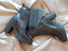 ALEXANDER WANG H&M black leather block heel zip ankle boots UK 6.5 EU 40 US 8.5