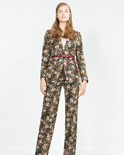 SOLD OUT!!! ZARA FLORAL PRINT LONG BLAZER SIZE XS UK 8