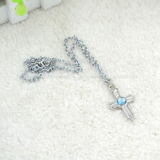 Anime Fairy Tail Gray Fullbuster Cross Necklace Unisex Bead Pendant Cosplay New