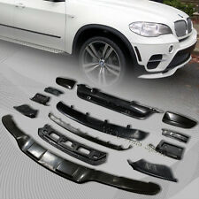 For 2011-2013 BMW X5 E70 Black Aerodynamic Body Front + Rear Bumper Lip Kit 13pc