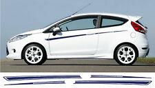 Ford Fiesta Mk7 Zetec - 3 Door Stripe Stickers Decals s1600