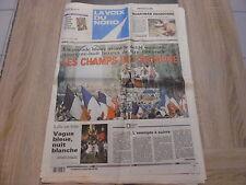 Journal La Voix du Nord – 14/07/1998 – Les bleus sur l'arche de Triomphe