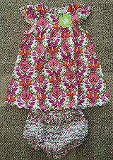 Vera Bradley Lillie Bell Baby Girls Summer Outfit Dress Bloomers 3-6 Months Mos