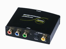 Component (YPbPr) & S/PDIF Digital Coax/Optical Toslink Audio to HDMI Converter