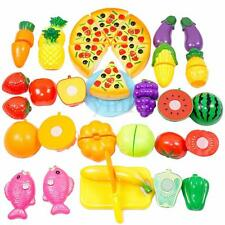 24 Pcs Kitchen Food Pretend Play Toy Cutting Vegetable Fruit Child Kids Gift Set