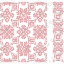 NEW Cricut Cuttlebug Embossing Folder Scrapbook Card Foulard Border Anna Griffin