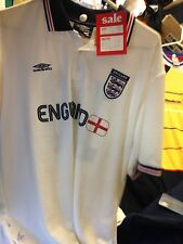 ENGLAND  TRAINING COTTON TOP x/l 42/44 INCH AT £9  COTTON POLO