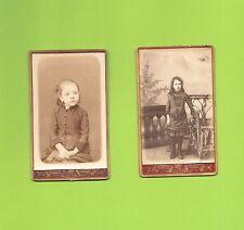 2 Photos Cdv jeunes filles
