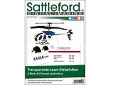SATTELFORD Laser-KLEBEFOLIE A4 5x ~ Aufkleber Etiketten wetterfest transparent
