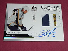 06-07 SP Authentic Shea Weber RC Auto Future Watch Patch 82/100 3CLR L@@K