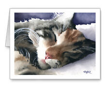 SLEEPING TABBY CAT Set of 10 Note Cards With Envelopes