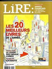 LIRE N°421 DECEMBRE 2013-JANVIER 2014  20 MEILLEURS LIVRES/ J.DIAMOND/ KIPLING