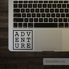 Adventure - Vinyl Decal Mac Apple Logo Laptop Sticker Macbook Decal Travel