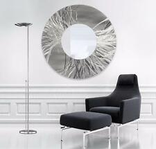 Silver Contemporary Metal Mirror, Hanging Modern Metal Wall Art - Jon Allen