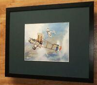 DH2 versus Fokker -Michael Turner - aircraft & warplane print -20''x16'' frame