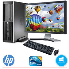 "HP Desktop Computer PC Core 2 Duo 4GB 250GB HD Windows 10 & 19"" LCD Monitor WIFI"