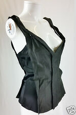 STELLA McCARTNEY MAINLINE FITTED BLACK BODICE / CORSET TOP UK 10 / US 6 / EU 38