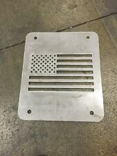 Jeep Wrangler TJ Tailgate Spare Tire Delete Plate 1997-2006 Flag Plate