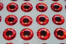 100 X  3D HOLOGRAPHIC 4MM RED EYES FOR FLYTYING,LURE,FLIES,PIKE,BASS,ARTS,TROUT